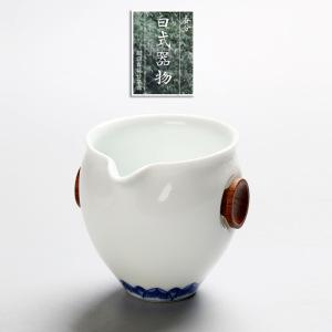 公道杯白瓷甜白青花公道杯
