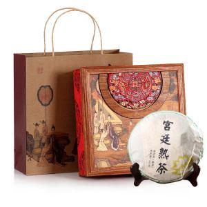 有茶居 普洱茶 熟茶 宫廷熟茶 中国红礼盒装357g