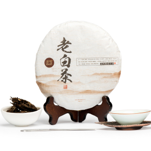 福鼎老白茶 四年陈 老贡眉350g 送精美茶刀