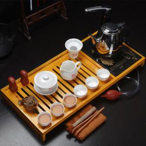 高档实木茶盘三合一 上善若水+高效电热炉