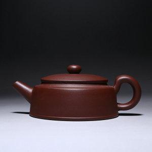 紫砂壶宜兴手工泡茶壶 扁汉瓦壶1号200cc