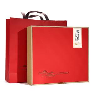 礼盒装-普洱茶-2012年勐海熟饼礼盒357g