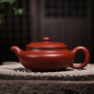 茶壶-紫砂壶-大扁仿古壶3号 260cc