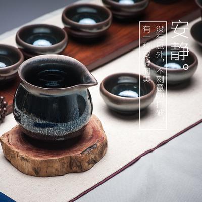 建盏茶具套装 黑色小油滴 12件套