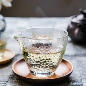 茶具-公道杯-日式锤目纹玻璃公杯