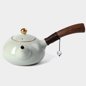 茶具-陶瓷侧把茶壶 2色可选