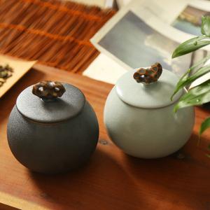 茶具-中式陶瓷茶叶罐 2色可选