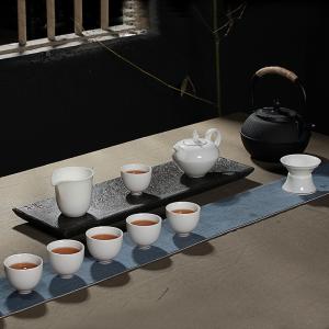 功夫茶具  陶瓷钻石壶茶具9件套礼盒装