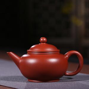 紫砂壶-朱泥大红袍-水平壶2号 160cc
