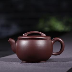 紫砂壶-紫泥-汉瓦壶3号 180cc