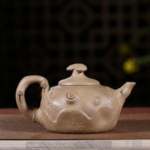 紫砂壶-原矿青段泥-直嘴供春壶1号230cc