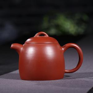 紫砂壶-朱泥大红袍-秦权壶2号 240cc