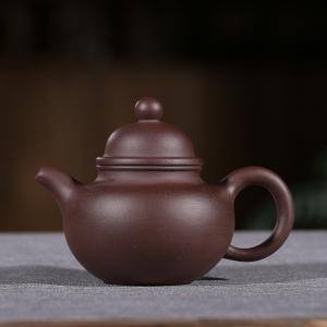 紫砂壶-紫泥-掇球壶1号 190cc
