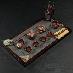 茶具套组 黑檀木 双石套装