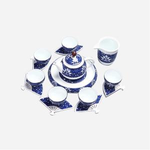 功夫茶具套组 陶瓷 青花茶壶套组
