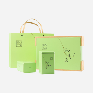 龙井绿茶-清风为伴礼盒250g-豆香超浓郁