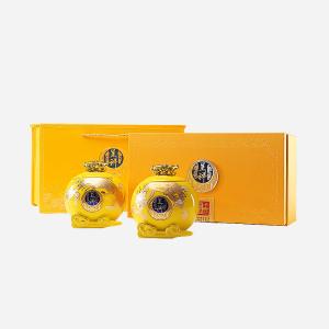 礼盒装 金骏眉 龙凤呈祥双瓷罐300g(含提袋)