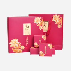 礼盒装 白茶 福鼎白茶月饼茶礼盒装300g(含提袋)