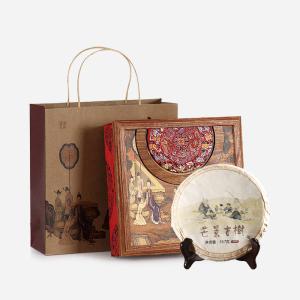 有茶居 普洱茶 生茶 芒景古树茶 中国红礼盒装 357g