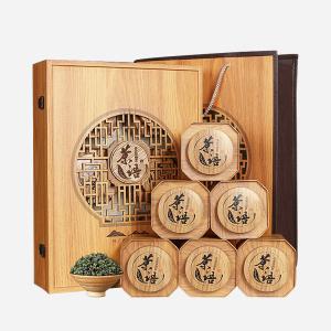 安溪原产-浓香铁观音-木纹开窗礼盒500g
