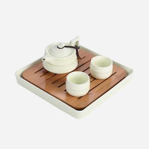 定窑-一壶两杯旅行茶具 办公室小茶具
