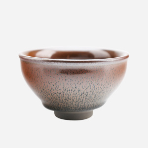 品茗杯-建盏-芝麻毫束口盏