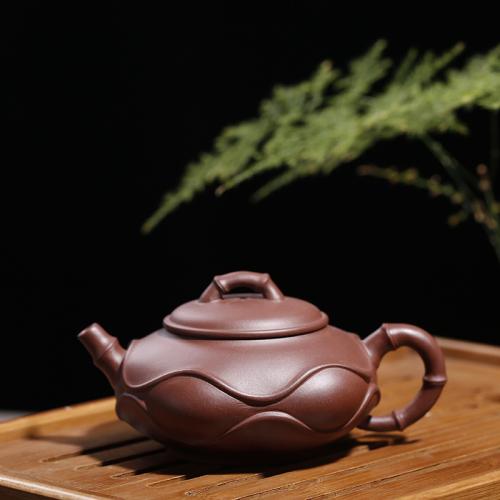 【陈建明】大师壶茶壶-紫砂壶-竹浪壶230cc
