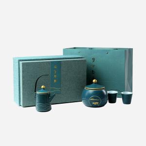 茉莉花茶-月下君来茶具礼盒装150g-高端花茶茶具礼