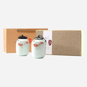 【买一送一】手绘瓷罐龙井礼盒200g【送】清风为伴碧螺春250g