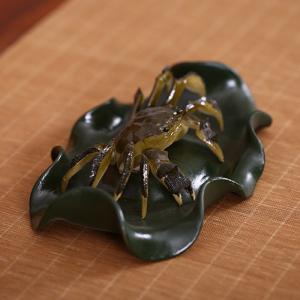 高端茶宠-紫砂-趣味螃蟹 遇开水变色