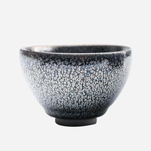 【龚华】品茗杯-大师建盏-黑釉银滴盏