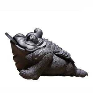 茶宠-紫砂-招财金蟾-茶具配件