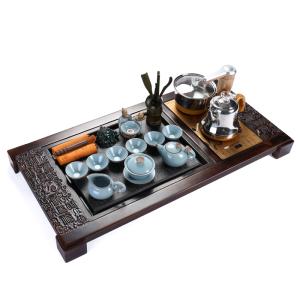 茶具-乌金石-福寿双全茶具套装