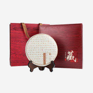 礼盒装-普洱茶-私家珍藏勐海熟饼357g(含提袋)