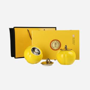 礼盒装-大红袍-金色国礼双陶瓷250g(含提袋)