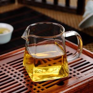 茶具-公道杯-方形玻璃公道杯