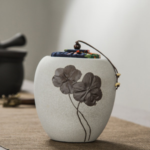 茶具-三叶草茶叶罐