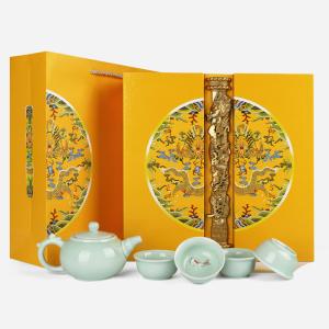 礼盒装-金骏眉-金色御品豪茗茶具茶叶礼盒 250g