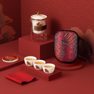 旅行茶具-陶瓷-牛步青云套组