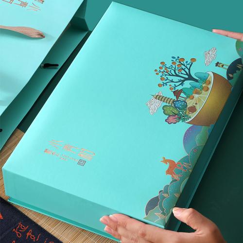 礼盒装-普洱茶-新会小青柑青盒5罐装25粒(含提袋)