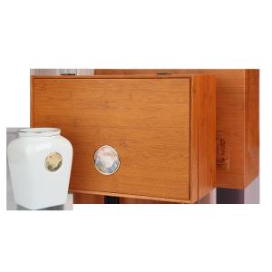 礼盒装-滇红-臻品竹纹木盒金螺300g(含提袋)