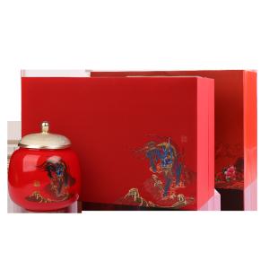 礼盒装-金骏眉-红色瑞兽献福双瓷罐200g(含提袋)