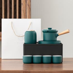 侧把壶陶瓷旅行茶具