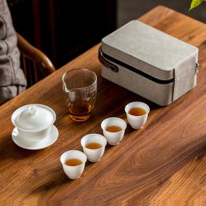 白瓷旅行茶具